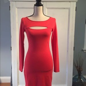 Coral bodycon Guess dress